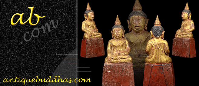 Extremely Rare 19C Wood Lanna Thai Buddha #BB230