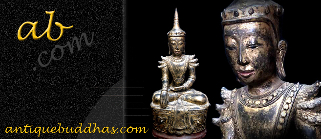 Extremely Rare 19C Reclining Lacquer Mandalay Buddha #BB248