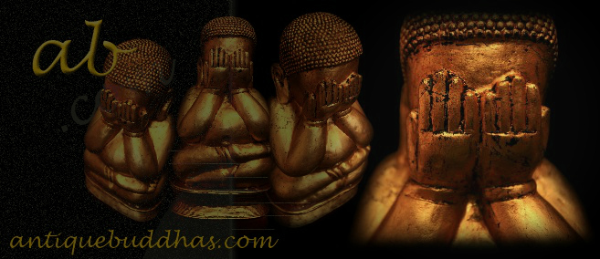 Extremely Rare 19C Wood Lanna Thai Buddha #BB253