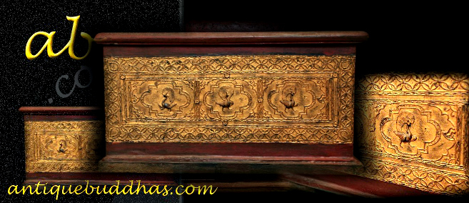 Extremely Rare 19C Wood Burmese Buddhist Chest #bb269