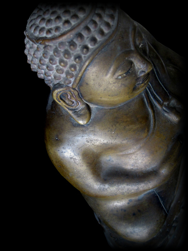 Extremely Rare Early 19C Bronze Thai Happy Buddha #CA1092