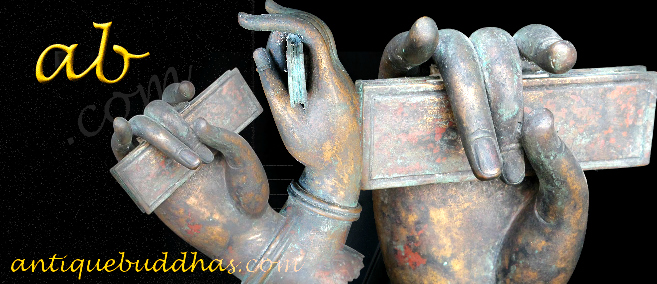 Extremely Rare Early 19C Buddhist Hand #B5