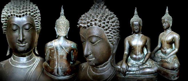 Extremely Rare Early 18C Bronze Chiangsang Buddha # CA1062