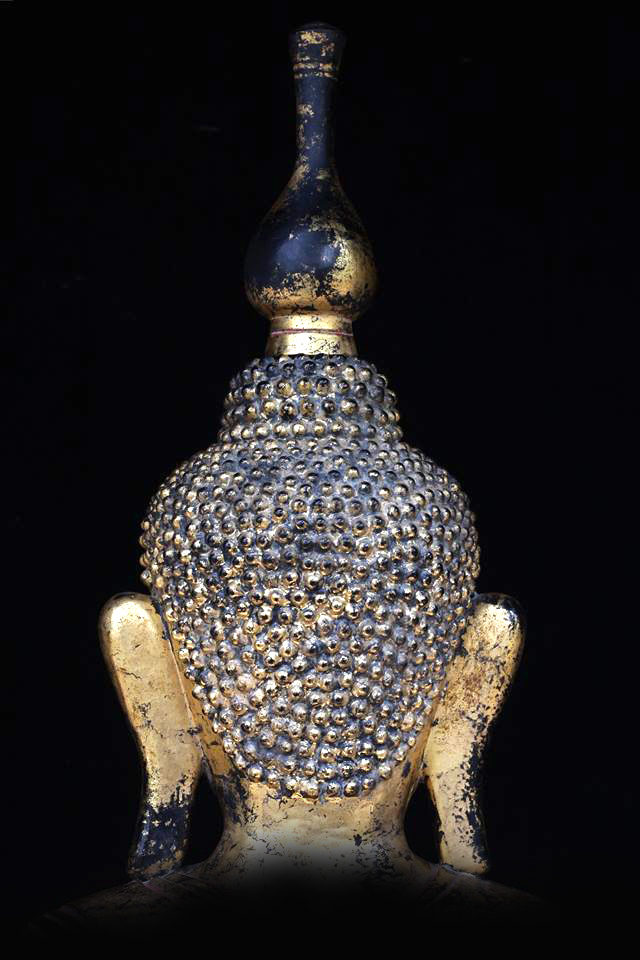 Extremely Rare Early 18C Bronze Ayuttaya Thai Buddha # BB122