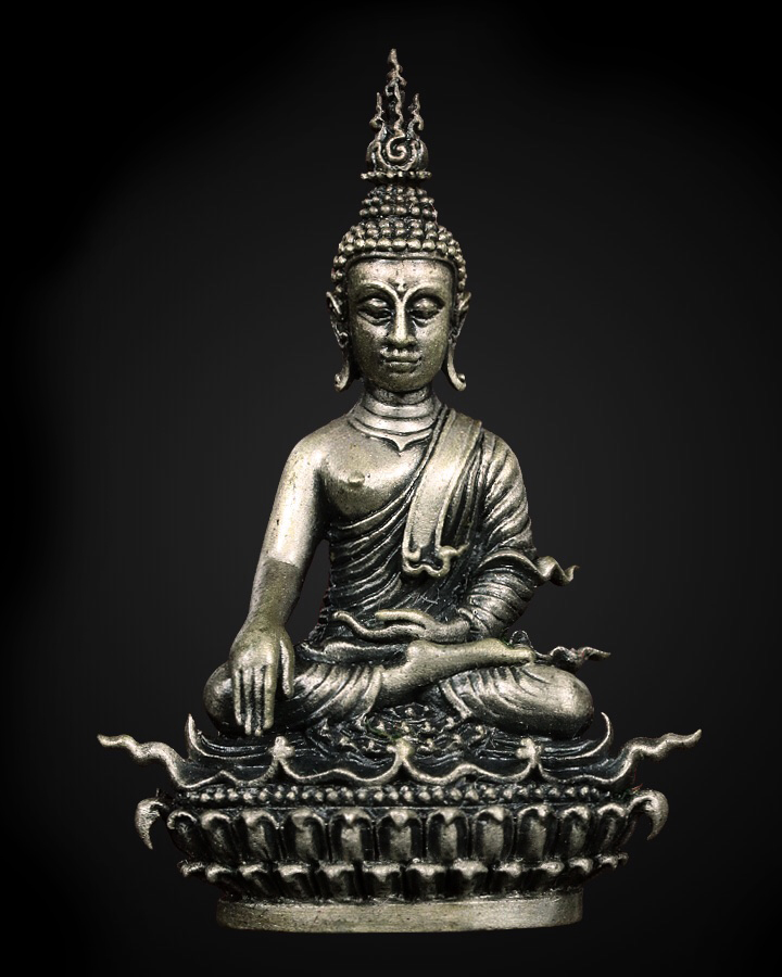 Extremely Rare Early 19C Bronze Thai Lanna Buddha # OFBT1