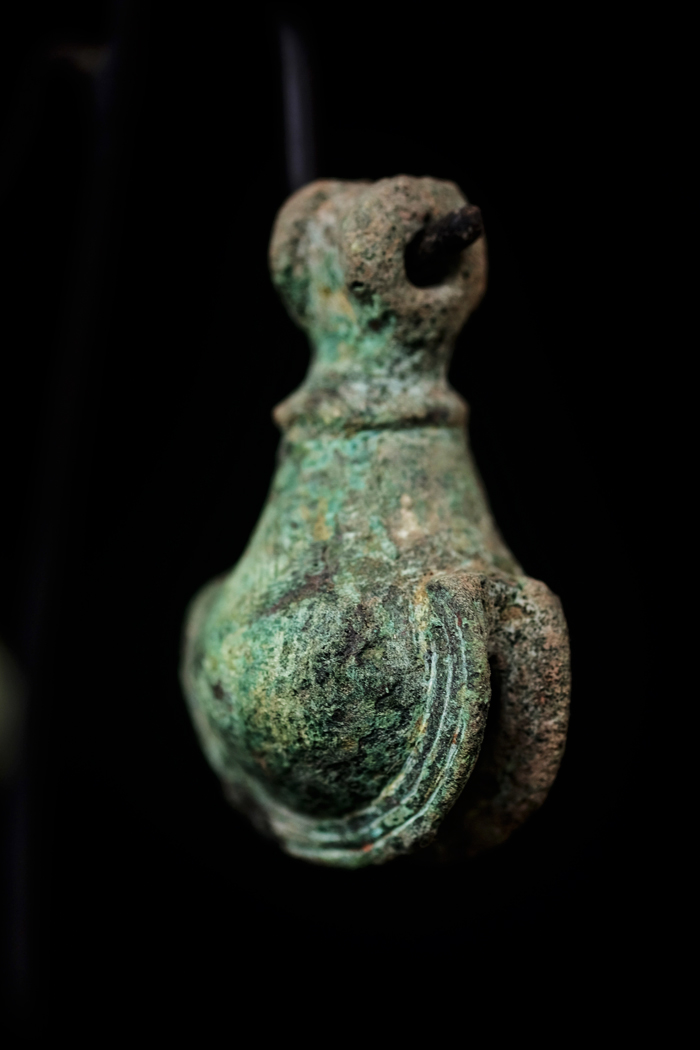 Extremely Rare Pair of 16C Vietnam Bronze Dong Song Bell. #BB093