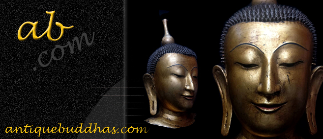 Extremely Rare 18C Lacquer Shan Burma Buddha Head #DW024