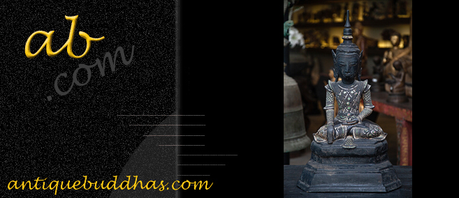 Extremely Rare 19C Reclining Lacquer Mandalay Buddha #DW025