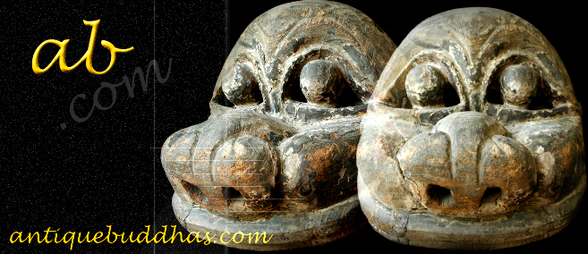 Extremely Rare Late 19C Burmese Hilltribe Tribal Mask #M11