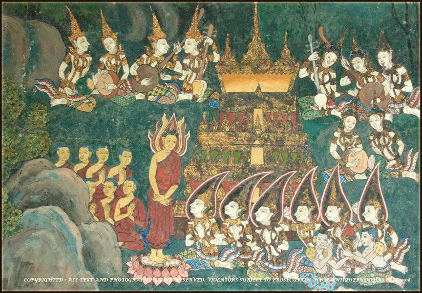 50 Year Old Painting From Ayutthaya Temple